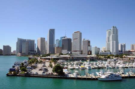 Downtown Miami Skyline, Florida USA. Photo taken at 14th of November 2009