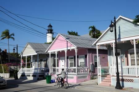 Street at Key West, Florida USA. Photo taken at 19th of November 2009