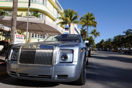 valet: Rolls Royce parked at Ocean Drive in Miami Beach, Florida. Photo taken at 14th of November 2009