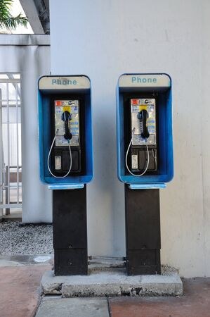payphone: Public telephone in Miami, Florida. Photo taken at 14th of November 2009