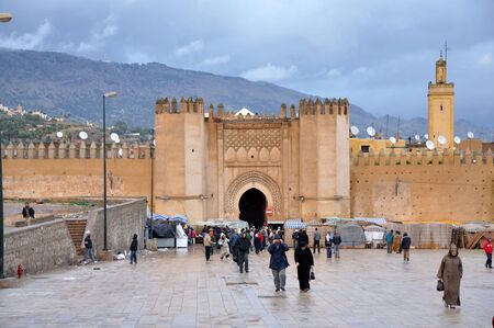 fes: Medieval city gate Bab Chorfa in Fes, Morocco. Photo taken at 22th of November 2008