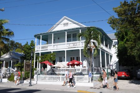 Traditional House in the Duval Street, Key West, Florida. Photo taken at 20th of November 2009