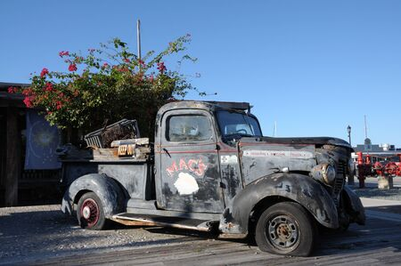 abandoned car: Old Pickup Truck in Key West, Florida Keys, USA. Photo taken at 20th of November 2009