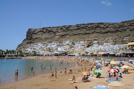 grand canary: Beach in Puerto de Mogan, Grand Canary Island, Spain. Photo taken at 16th of April 2010
