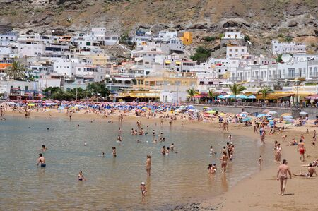 grand canary: Beach in Puerto de Mogan, Grand Canary Spain. Photo taken at 17th of April 2010