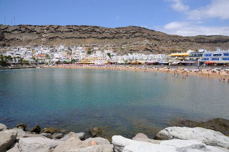 grand canary: Beach in Puerto de Mogan, Grand Canary Island Spain. Photo taken at 17th of April 2010