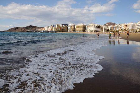 gran: Las Canteras beach in Las Palmas de Gran Canaria, Spain. Photo taken at 13th of April 2010 Editorial