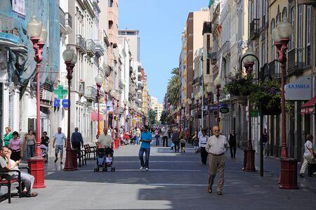 gran canaria: Calle Triana, Las Palmas de Gran Canaria, Spanje. Foto genomen op 25 April 2010