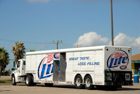 miller: Miller Lite Beer Truck. Port Aransas, Texas. Photo taken at 22nd of November 2008