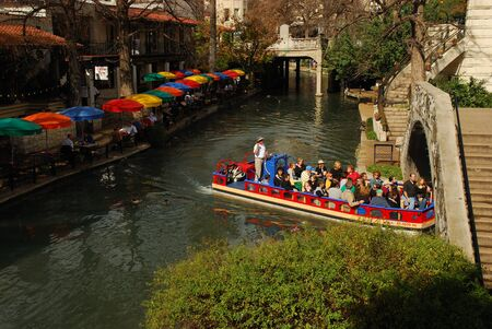 The famous River Walk in San Antonio, Texas USA. Photo taken at 22nd of January 2008 Stock Photo - 8707231