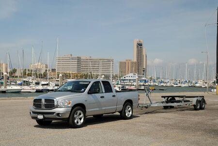 pickup truck: Pickup truck at the Marina of Corpus Christi, Texas USA. Photo taken at 12th of November 2008