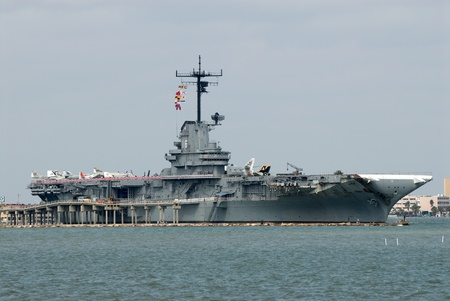 warship: USS Lexington in Corpus Christi, Texas USA.  Photo taken at 12th of November 2008