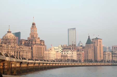 The Bund in Shanghai, China. Photo taken at 18th of November 2010 Stock Photo - 8724327