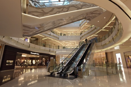 Interior of the IFC Mall in Pudong, Shanghai, China. Photo taken at 21st of November 2010