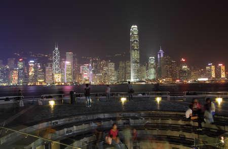 People enjoying the view over Hong Kong. Photo taken at 25th of November 2010 Stock Photo - 8724333