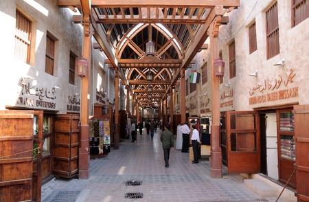 Verenigde Arabische Emiraten: Oude Souk in Dubai, Verenigde Arabische Emiraten. Foto genomen op 21 januari 2009