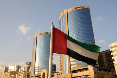 Flag of United Arab Emirates in Dubai. Photo taken at 25th of January 2009