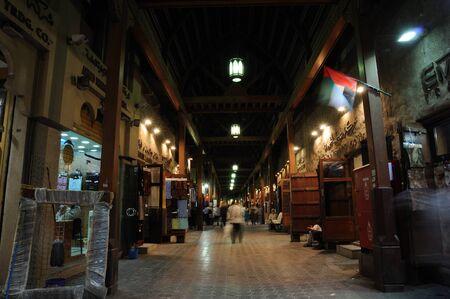 bur dubai: Souk in Bur Dubai at night. Photo taken at 25th of January 2009 Editorial