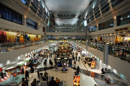 Inside of the Dubai International Airport. Photo taken at 30th of January 2009 Stock Photo - 8728619