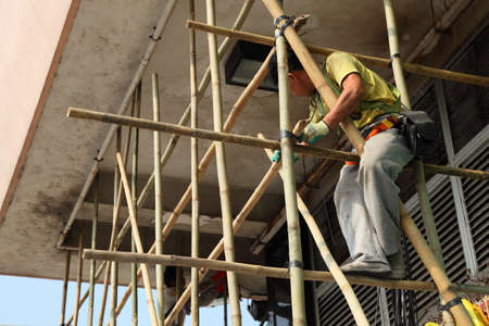Bamboo scaffolding in Hong Kong. Photo taken at 30th of November 2010