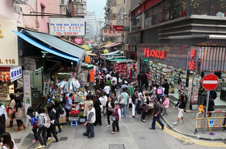 wan: Market in Wan Chai, Hong Kong. Photo taken at 30th of November 2010