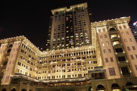 The Peninsula Hotel in Hong Kong decorated for Christmas. Photo taken at 12th of December 2010
