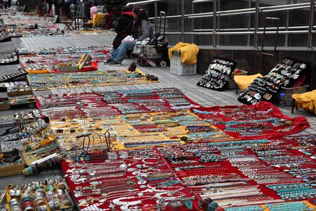 Jewelry Seller in the street of Shanghai, China. Photo taken at 23rd of November 2010 Stock Photo - 8757140