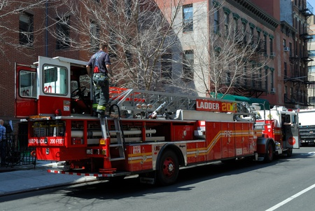 Fire truck in New York City. Photo taken at 17th of April 2008