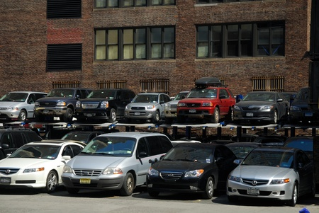 Parking Lot in New York City. Photo taken at 18th of April 2008 Stock Photo - 8770242
