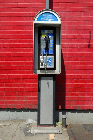 Phone booth in New York City. Photo taken at 19th of April 2008