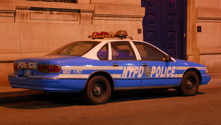 Old Police Car in New York City. Photo taken at 20th of April 2008