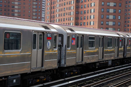 Subway train in New York City. Photo taken at 21st of April 2008