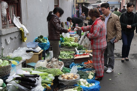 Vegetables market in Shanghai, China. Photo taken at 19th of November 2010 Stock Photo - 8797046