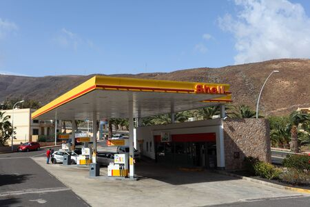 Shell gas station, in Jandia Playa, Canary Island Fuerteventura, Spain. Photo taken at 23rd of March 2011