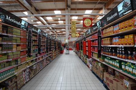 Inside a large supermarket in Spain. Photo taken at 23rd of February 2011