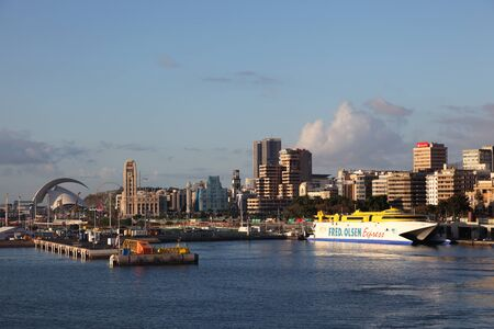 canarias: The port of Santa Cruz de Tenerife, Canary Islands, Spain. Photo taken at 13th of March 2011