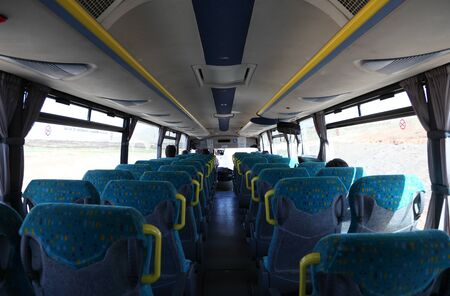Inside of an almost empty bus. Photo taken at 24th of March 2011 Stock Photo - 9386472