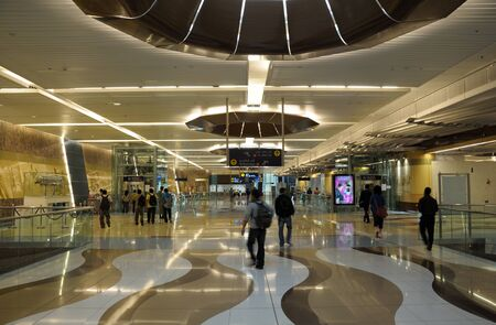 Interior of a metro station in Dubai. Photo taken at 18th of January 2010 Stock Photo - 9501087