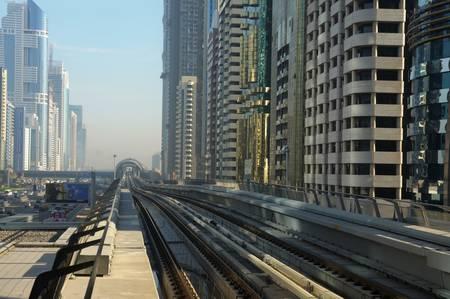 The New Metro in Dubai, United Arab Emirates. Photo taken at 18th of January 2010