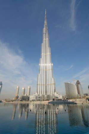 Burj Khalifa (Khalifa Tower) - the tallest man-made structure ever built. Dubai, United Arab Emirates. Photo taken at 18th of January 2010