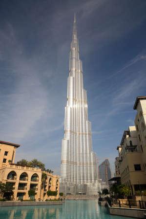 Burj Khalifa (Khalifa Tower) - the tallest man-made structure ever built. Dubai, United Arab Emirates. Photo taken at 18th of January 2010 Stock Photo - 9501082