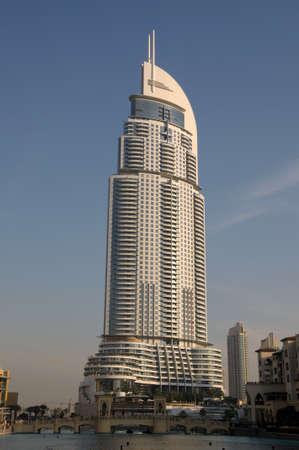 futuristic city: The Address Hotel in Downtown Burj Khalifa, Dubai United Arab Emirates. Photo taken at 18th of January 2010