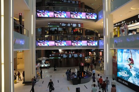 Interior of the Dubai Mall, Dubai United Arab Emirates. Photo taken at 18th of January 2010 Stock Photo - 9501086