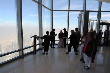 At The Top - Observation Deck of Burj Khalifa, Dubai United Arab Emirates. Photo taken at 19th of January 2010