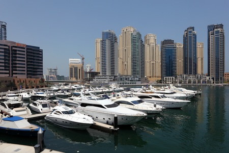 Yachts at Dubai Marina, United Arab Emirates. Photo taken on 28 Mai 2011 Stock Photo - 9707853