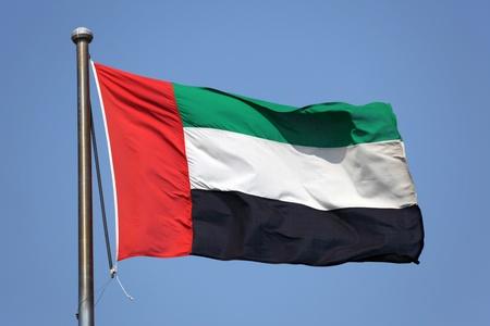 arab flags: Flag of United Arab Emirates Stock Photo