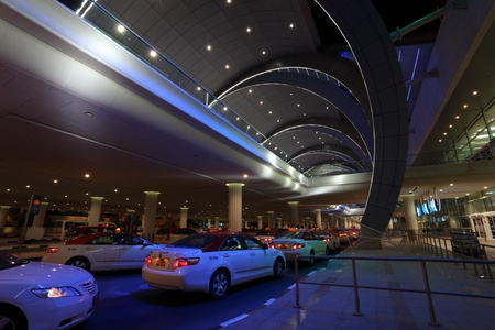 gcc: Taxis waiting at the Dubai Airport Terminal 3. Photo taken on 4th of June 2011