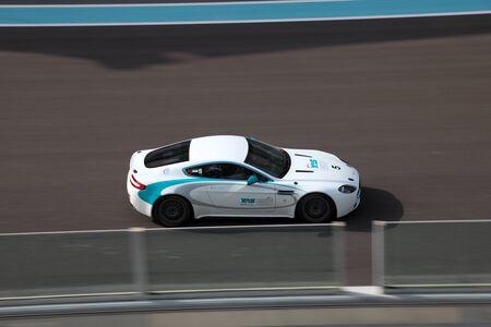 Racing Car at Yas Marina Formula 1 Racing Track in Abu Dhabi. Photo taken at 1st of June 2011