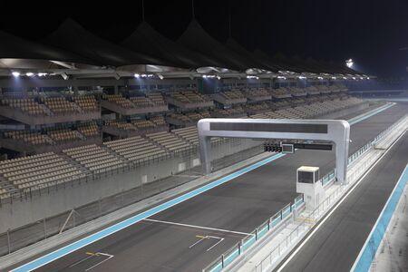 formula 1: Yas Marina Formula One Circuit Racing Track in Abu Dhabi, United Arab Emirates Editorial