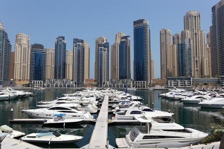 Yachts at Dubai Marina, United Arab Emirates